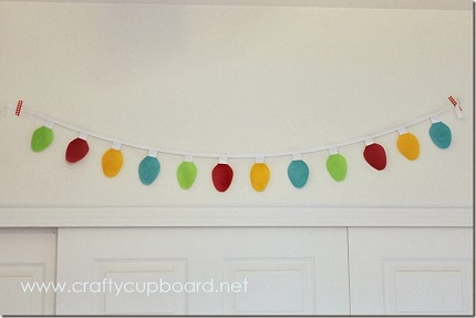 Tutorial: Felt Christmas light garland