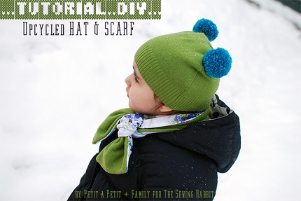 Tutorial: Hat and scarf from an old sweater
