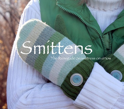 Tutorial: Smittens sweater mittens