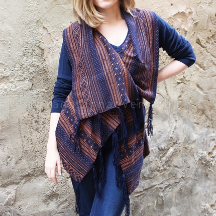 Tutorial: Drapey shawl vest
