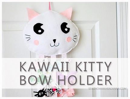 Tutorial: Felt Kawaii Kitty Bow Holder