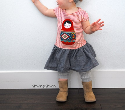 Free pattern: Baby girl cap sleeve dress