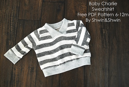 Free pattern: Charlie Sweatshirt for babies