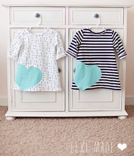 Tutorial: Knit heart dress for little girls