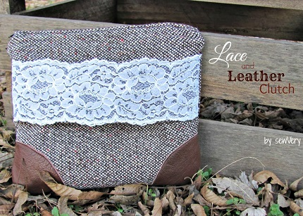 Tutorial: Lace and Leather Clutch