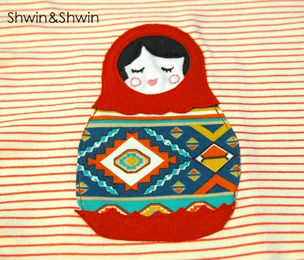 Free pattern: Matryoshka nesting doll applique