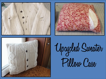 Tutorial: Upcycled cardigan pillow cover