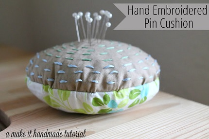 Tutorial:  Simple embroidered pin cushion