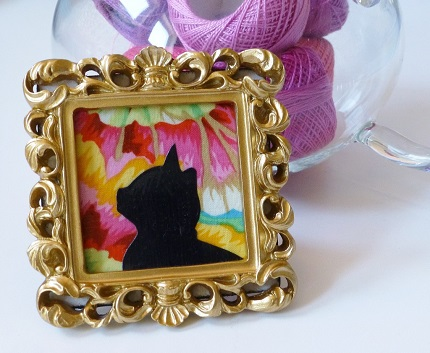 Tutorial: Fabric scrap framed silhouettes