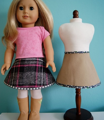 Free pattern: Circle skirt for an 18″ doll