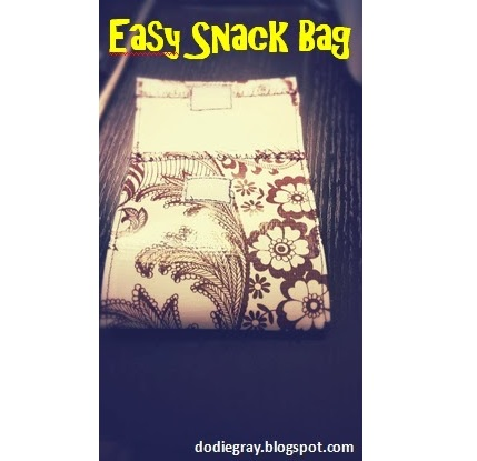 Tutorial: Oilcloth reusable snack bags