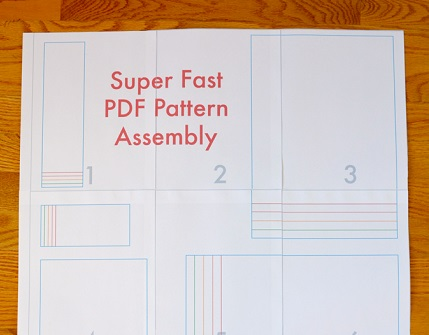 Tip: Assembling a PDF pattern fast and easy