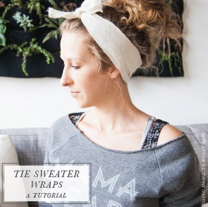 Tutorial: Make wool head wraps from an old sweater