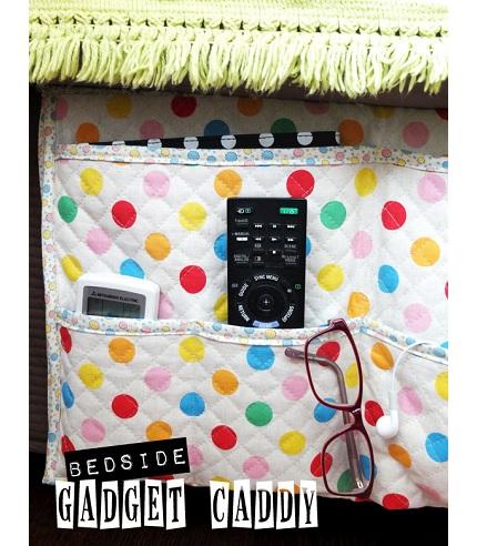Bedside Pocket Caddy Tutorial Bedside Gadget Caddy