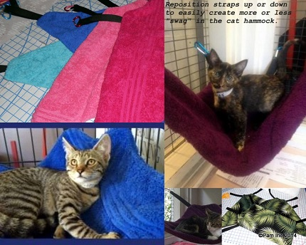 Free pattern: Corner hammock mat for shelter cats