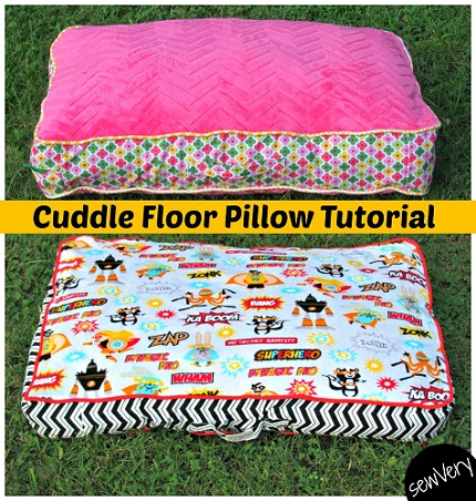 Tutorial: Cuddle Floor Pillows ? Sewing