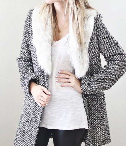 Tutorial: DIY faux fur shawl collar for your coat