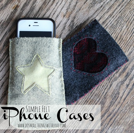 Tutorial: Simple felt phone sleeve