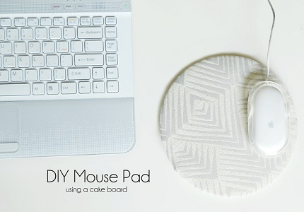 Tutorial: DIY round mouse pad using a cake board