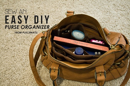 Tutorial: DIY purse organizer from placemats