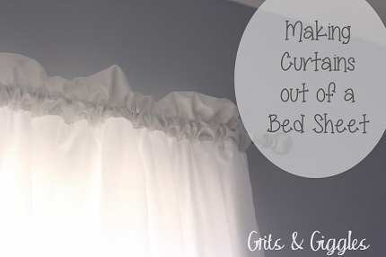 Tutorial: Make curtains from bed sheets