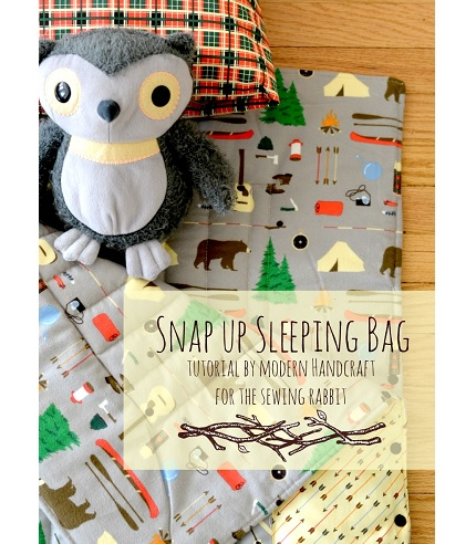 Tutorial: Snap up sleeping bag and camping blanket