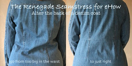 Tutorial:  Take in a long jacket that is too big at the back