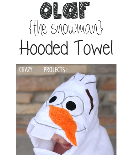 Tutorial: Snowman hooded towel