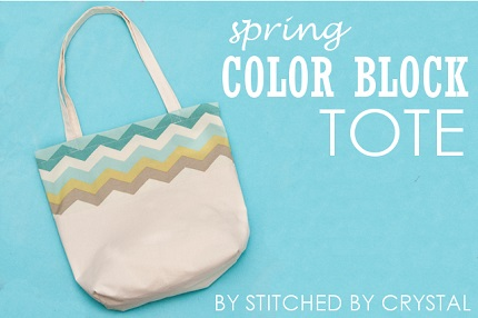 Tutorial: Color block tote bag