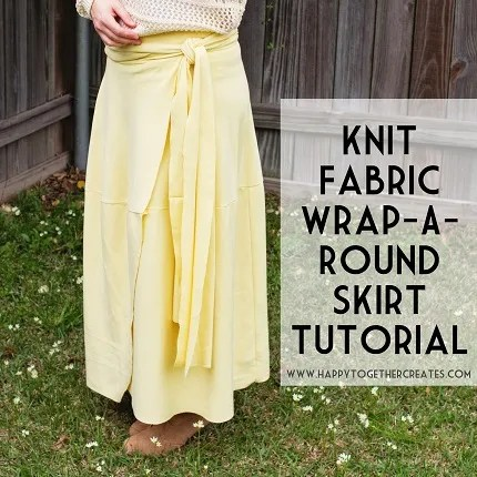 Tutorial: Knit fabric wrap skirt