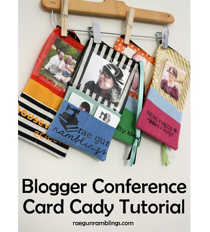 Tutorial: Blogger conference business card carrier