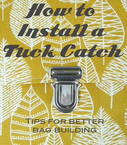 Video tutorial: Installing a tuck catch on a bag