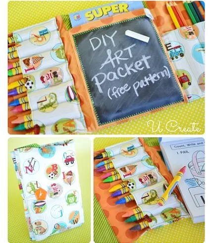 Free pattern: DIY Art Packet tri-fold coloring folio