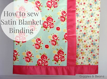 Tutorial: Finish a baby blanket with satin blanket binding