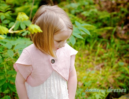 Tutorial: Little girl's tulip sleeve cropped jacket