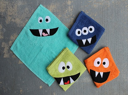 Tutorial: Monster face wash cloths