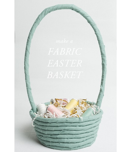 Tutorial: No-sew fabric rope Easter basket
