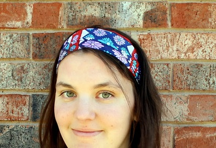 Tutorial: Vintage scarf headband