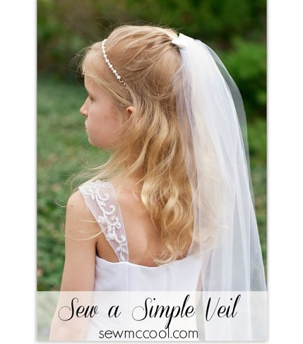 Tutorial: Gathered tulle veil attached to a  barrette