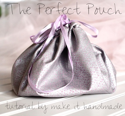 Tutorial: Drawstring jewelry pouch and mat