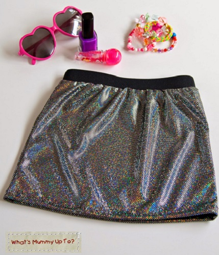 Tutorial: Little girl's Disco Diva Skirt