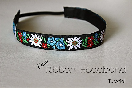 Tutorial: Easy ribbon headband
