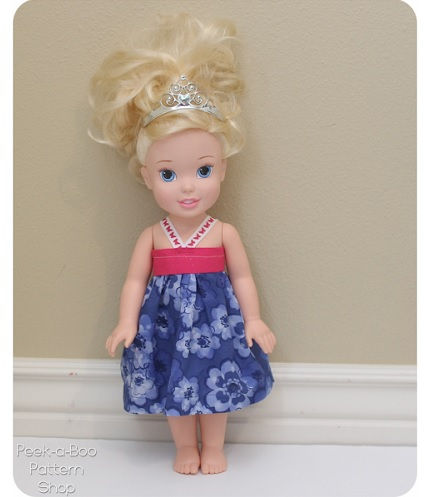 "Tutorial: 15"" doll sundress"
