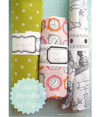 Freebie: Fabric bundle wraps to store and label your stash