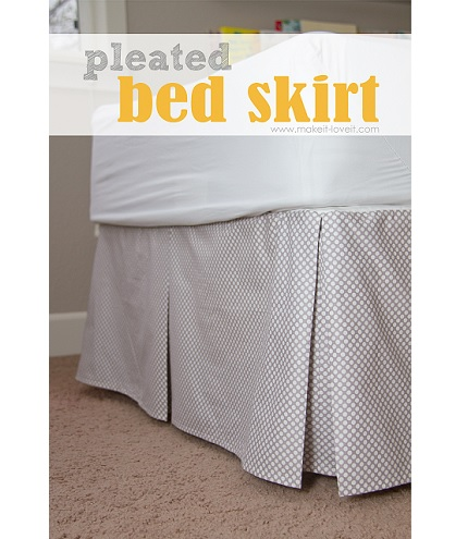 Tutorial: Pleated bed skirt