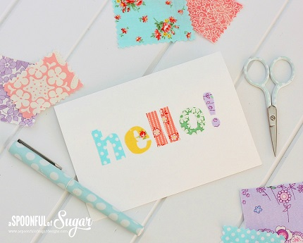 Tutorial No sew Fabric Scrap Greeting Cards Sewing