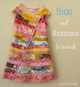bias buttons dress pattern
