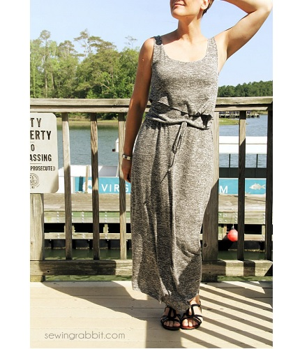 Tutorial: Layered bodice maxi sundress