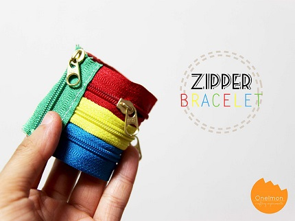 Tutorial: Zipper cuff bracelet