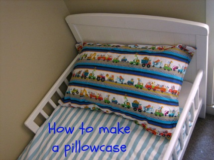 Tutorial: Simple pillowcase with a flap that covers the insert